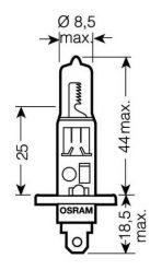 žiarovka H1 24V 70W P14.5s Osram