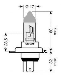 žiarovka H4 24V 75/70W P43t Osram