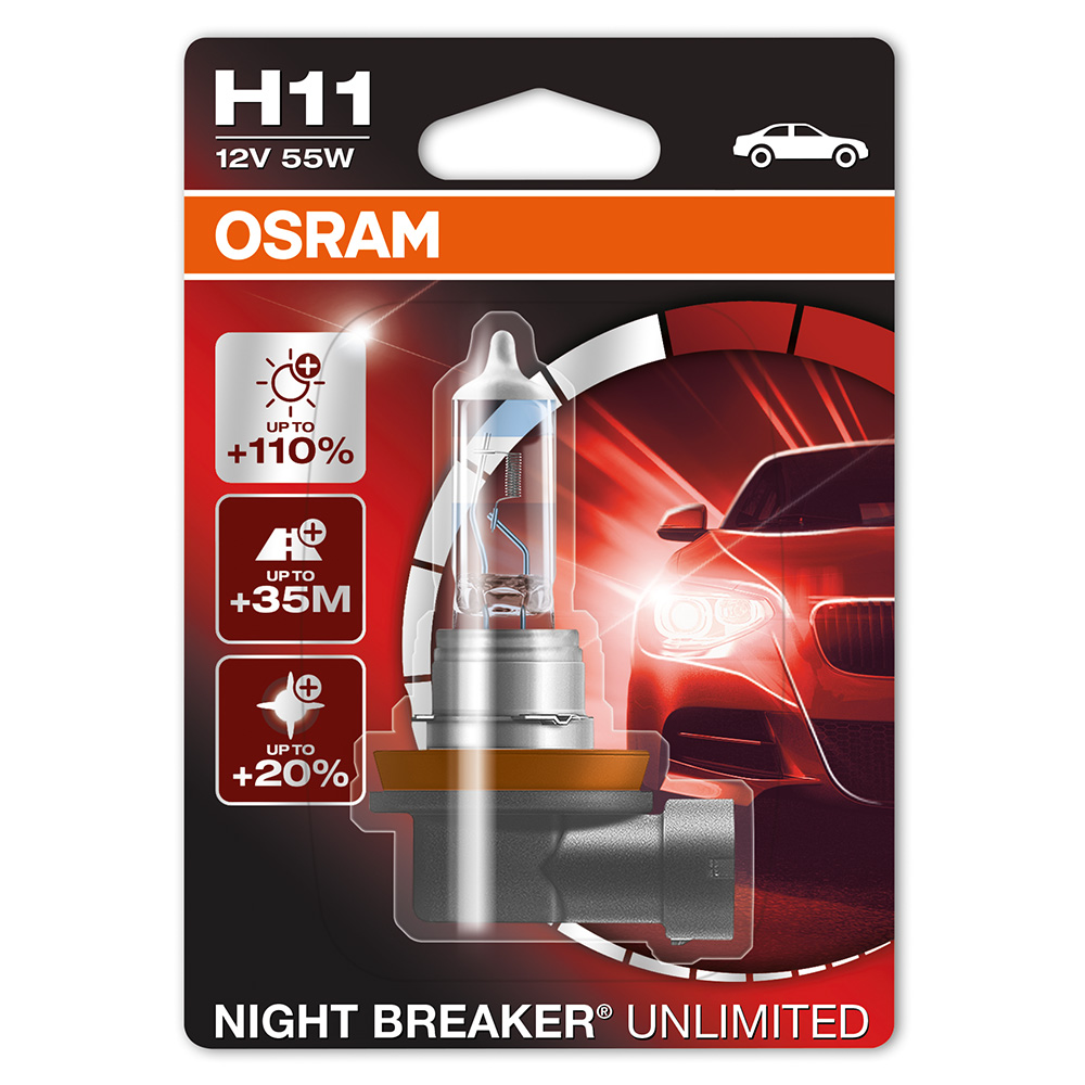 osram night breaker unlimited h11 pgj19 2 12v 55w auto iarovky osram. Black Bedroom Furniture Sets. Home Design Ideas
