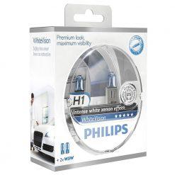 Philips H1 12V 55W P14,5s+W5W WhiteVision -set 2ks
