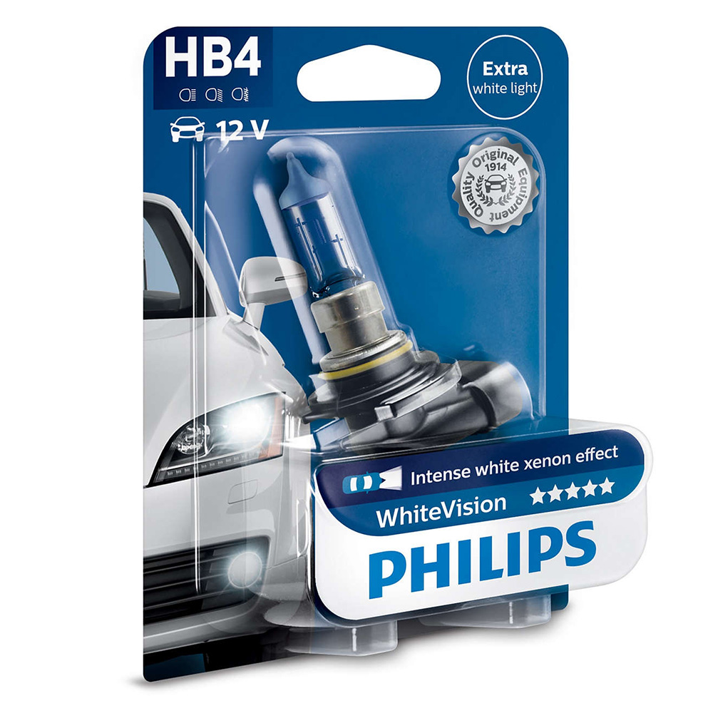 philips hb4 12v 55w p22d whitevision ultra auto iarovky osram. Black Bedroom Furniture Sets. Home Design Ideas