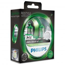 philips colorvision fialova h4 12v 6055w 12342cvpgs2 2ksbalenie