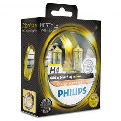 philips colorvision fialova h4 12v 6055w 12342cvpys2 2ksbalenie