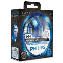philips colorvision modra h4 12v 6055w 12342cvbps2 2ksbalenie