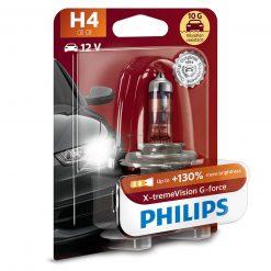 philips x treme vision g force 130 10g h4 12v 5560w